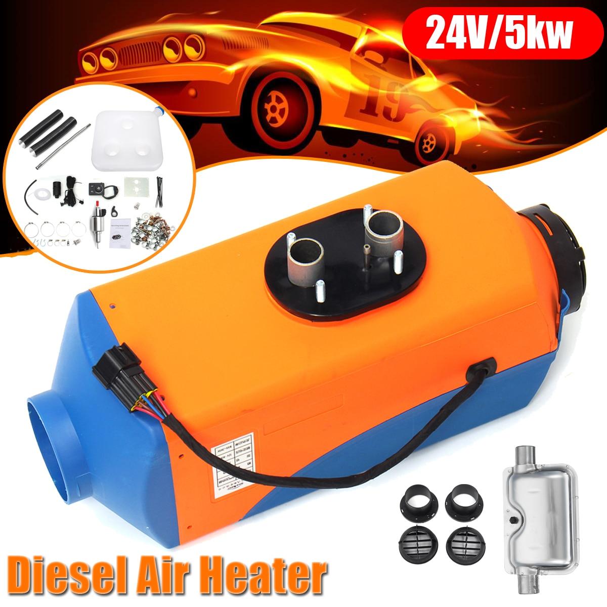 все цены на Audew 12V 24V Car Heater 3KW 5KW Car Air Diesels Heater + Silencer + Rotary Switch For RV Trucks Bus Boat Motorhome Car Heating онлайн