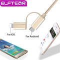 2 en 1 de Nylon Trenzado De Aluminio Cable de Datos Usb 8 pin micro usb cable para iphone 6 6 s plus samsung android teléfono