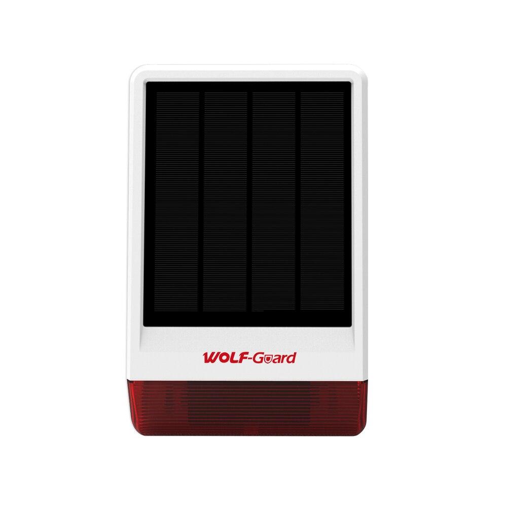 Sistema de alarma solar inal/ámbrico kit de alarma de seguridad para el hogar IR de solar de luz de sonido aut/ónoma con im/án de 2 puertas 3 PIR 3 Control remoto