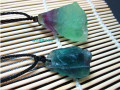 necklace Natural Colorful Fluorite Crystal Stone Pendant Ore Energy Stone Pendant Jewelry Making Free shipping
