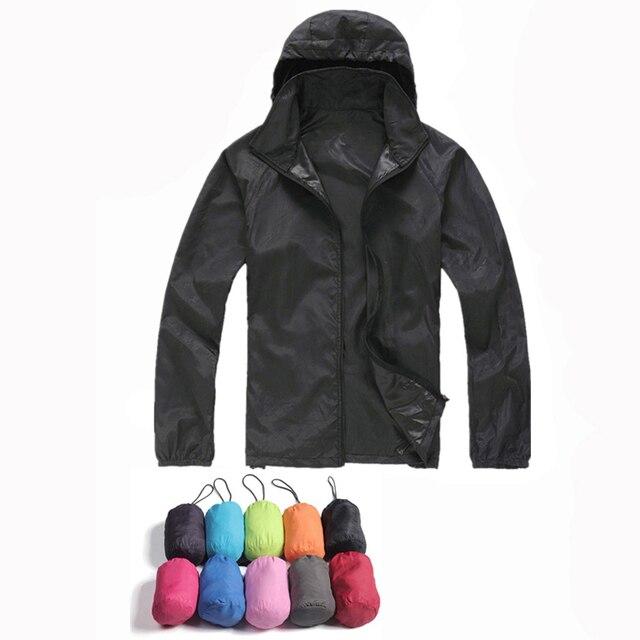 2017 החדש Mens נשים מעילים מקרית Windproof קל במיוחד מעיל רוח צבא גברים מעיל עור מהיר יבש