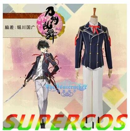 Free shipping! Touken Ranbu Online Horikawa Kunihiro Uniform Cosplay Costume ,Perfect Customized For you!