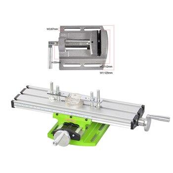 Multifunções Máquina de Fresagem de precisão em miniatura furadeira de Bancada mesa Vise Coordenar worktable XY-ajuste do eixo Elétrico