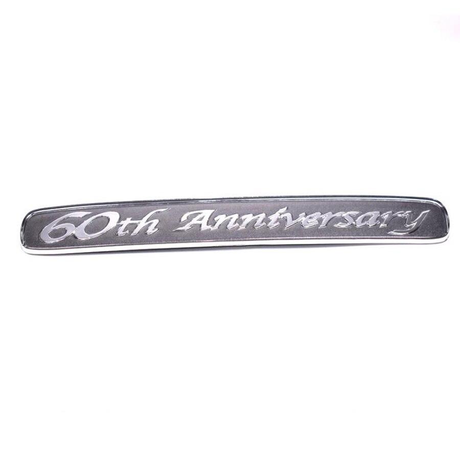Alumínio 60th Anniversary Limited Edition 3D Etiqueta Do Emblema Do Emblema Decalque do Carro Apto Para Toyota Land Cruiser Carro-styling Covers