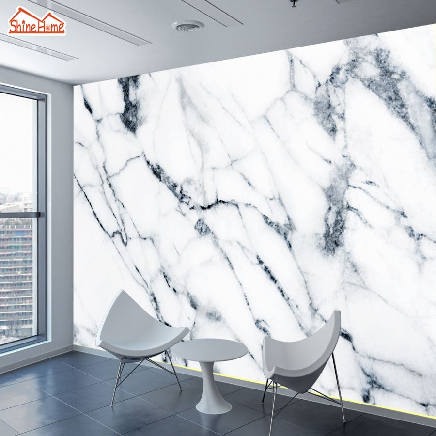 ShineHome-3d Large Custom Marble Stone Wallpapers 3 d Wall Paper Wallpaper Bedroom Mural Roll for Living Room Cafe Home Decor shinehome abstract brick black white polygons background wallpapers rolls 3 d wallpaper for livingroom walls 3d room paper roll