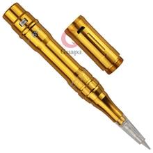 Золотая Беспроводная электрическая татуировочная машина Профессиональный Перманентный макияж тату-пистолет брови красота МТС машинка ручка с батареей