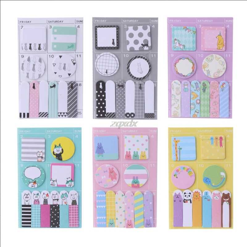 Animals color memo pad paper Schedule marker Weekly plan post it sticker notes stationery school supplies Kawaii Drop ship