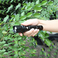 Waterproof Mini CREE LED rechargeable flashlight 18650 hand lamp 3*AAA torch for outdoor fishing riding Camping Hiking SOS