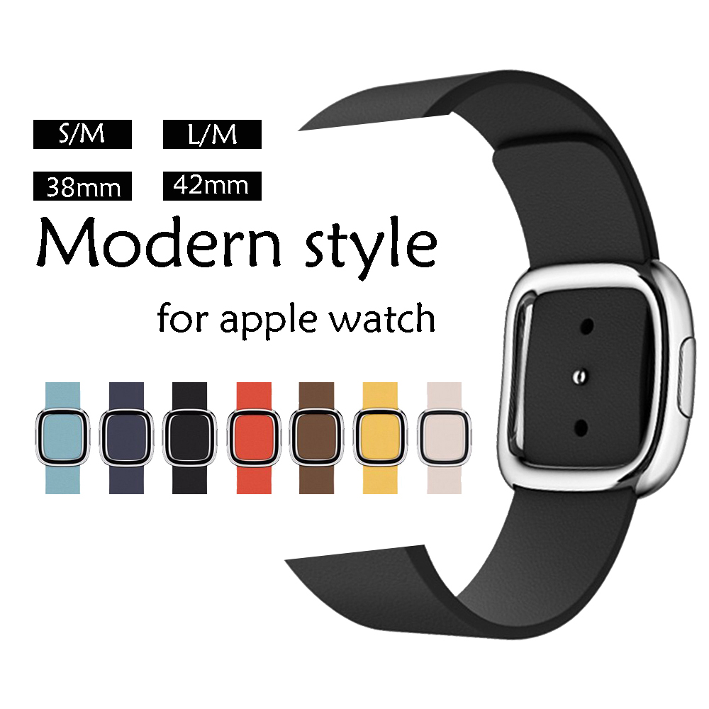 CRESTED Genuine Leather watch strap for apple watch band 42mm/38mm iwatch 3/2/1 bracelet Modern style leather watch wrist цена