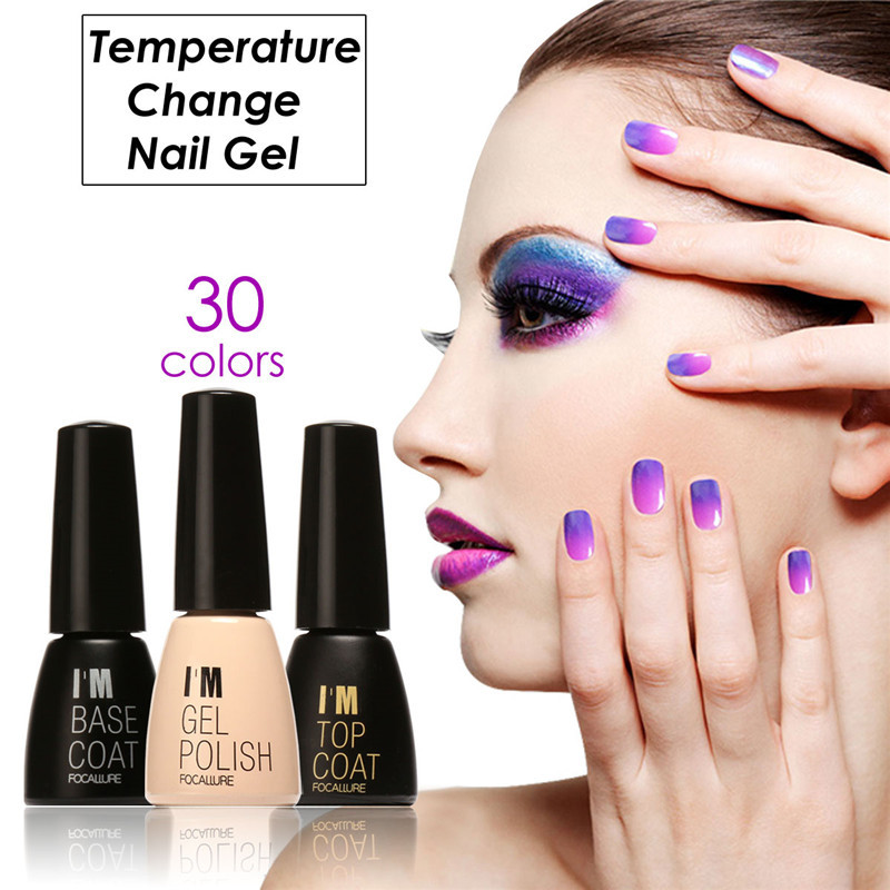 FOCALLURE Nail Gel Polish Temperature Change Color Changing Gel Polish LED UV Soak-off Gel Lacquer 7ML UV GEL
