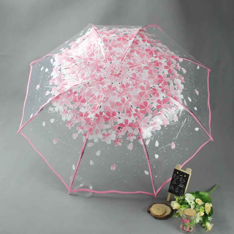 Apollo Princess Umbrella Rain Woman 3 Fold Umbrellas For Kids Sakura Pink Umbrella Small Sunshade Transparent Parasol