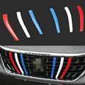 3 farbe ABS Auto Kühlergrill Cover Einfügen Trim Streifen Für Peugeot 3008 GT 2016 2018-in Chrom-Styling aus Kraftfahrzeuge und Motorräder bei