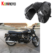 KEMiMOTO Motorcycle saddle Bag Travel Knight Rider Brown Black for Yamaha for BMW for Kawasaki For Harley Motorcycle Bags
