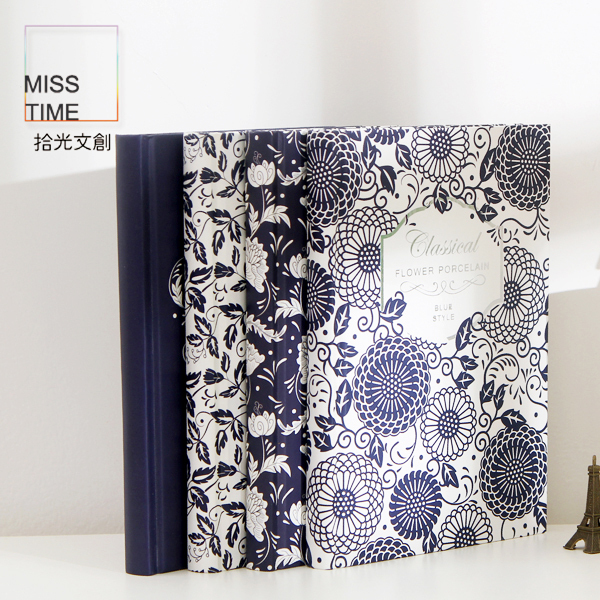 MissTime Hardcover Notebook [ Blue and White of Love Series ] Luminous Notebook Creative Notepad