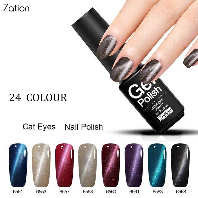 Zation Color Change Varnish Magnet Nail Polish Magnetic Enamel Nail ...