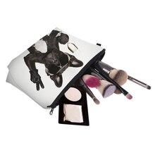 Women cosmetic pug bags