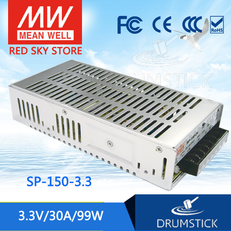 MEAN WELL SP-150-3.3 3.3V 30A meanwell SP-150 3.3V 99W Single Output with PFC Function Power Supply [Real1] [mean well] original sp 150 27 27v 5 6a meanwell sp 150 27v 151 2w single output with pfc function power supply