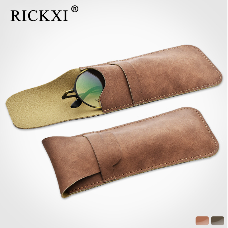 Soft Eyes Reading Glasses Bag PU Leather Pocket Glasses Pouch For Men Sunglasses Bag Eyewear Accessories