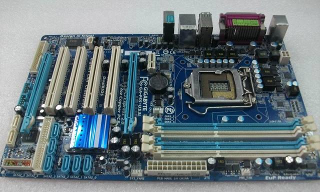 Оригинальный материнская плата DDR3 LGA 1156 P55-UD3L GA-P55-US3L Настольных материнских плат 16 Г для I3 I5 I7 CPU