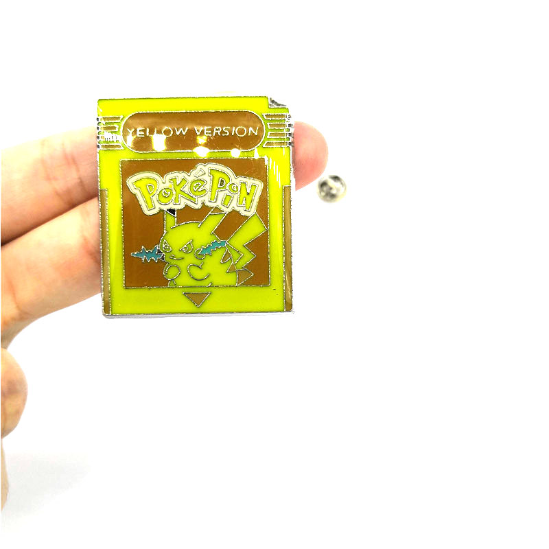 Pocket monsters Vintage kids men women 90s funny cartoon backpack clothes diy decoration Enamel Brooches badge collar pins gifts in Brooches from Jewelry Accessories