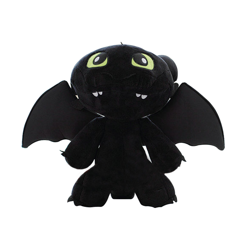 30CM 2014 How To Train Your Dragon 2 Night Fury Plush Toy Toothless Dragon Stuffed Plush Toy Animal Dolls Gifts For kids how to train your dragon 2 dragon toothless night fury action figure pvc doll 4 styles 25 37cm free shipping retail