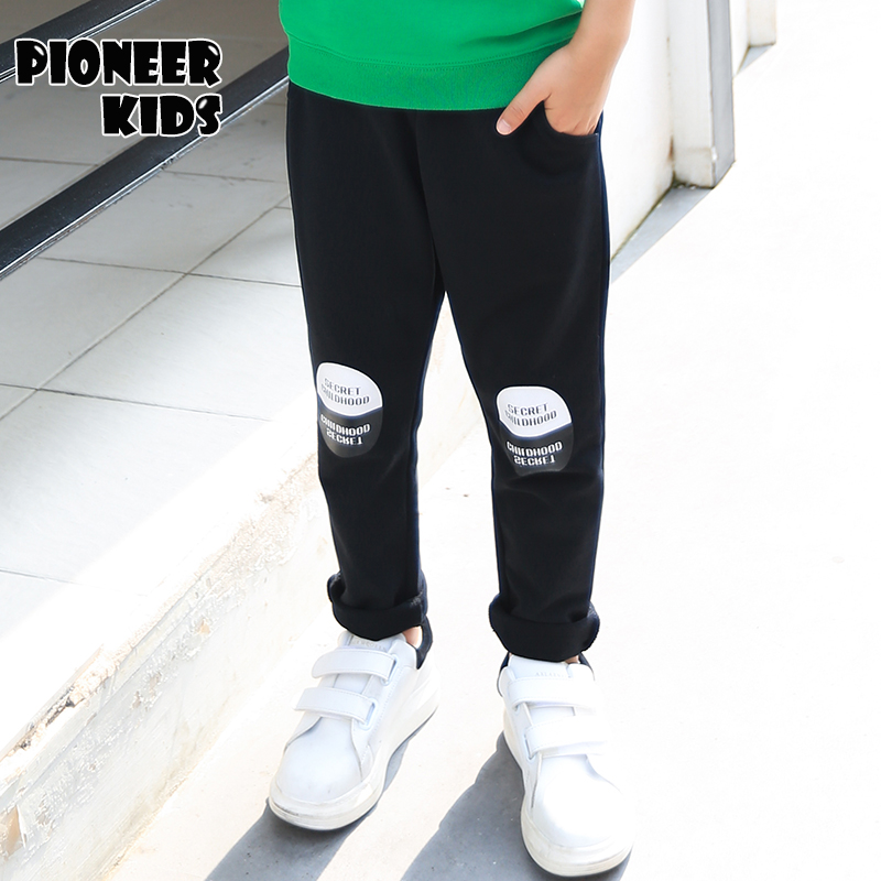 Pioneer Kids  New Big Boys 4-16Y  Cotton Long Pants Capris Children Leisure Full Length Trousers Straight  Spring Autumn