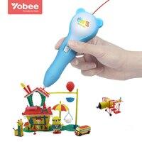 Yobee Stampante 3D Pen Bambini Bambini Magici Giocattoli di Disegno DIY Designer Modeling Colorazione Arti Pittura 3D Penna Learning Education Toy