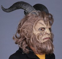 Cosplay Horror Mask Latex Lion Helmet Masquerade Masks Halloween Party 2017 Hot Movie Beauty and the Beast Adam Prince Mask