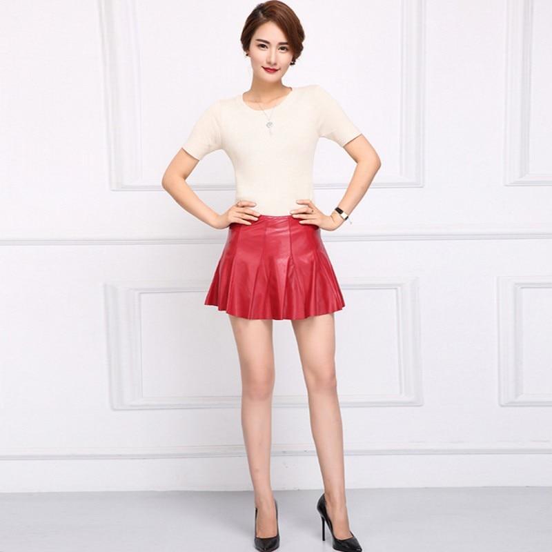 Faldas Zipper Haute black Bureau Top Mujer Sexy Cuir Fête Ligne Mni Jupe Véritable Marque Taille Dames Rouge Femmes Noir Club Red De Une xzxqw60B