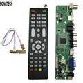 Free Shipping V56 Universal LCD TV Controller Driver Board PC/VGA/HDMI/USB Interface7 Key Board