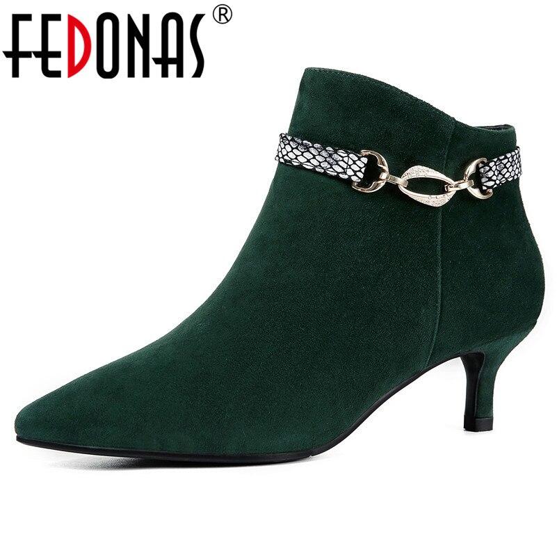 5fddcaf8 Prom Hebillas De Negro Mujer Punta Zapatos Calidad Boda Nuevas Estrecha  Básicas Botas Tacones Fedonas Altos ...