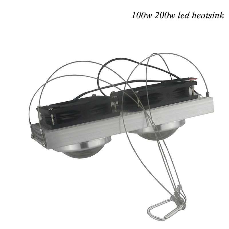 1pcs 50W100W 200W 300W 400WHigh Power LED Heatsink cooling with fans Lens led radiator for led full spectrum grow aquarium light 1pcs ledengin lzp rgbw dome lens 80w hight power led emitter lamp light blub led chip with 28mm pcb heatsink page 11