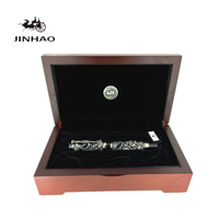 Jinhao Luxury Roller Ball Pens Dragon Phoenix Pattern Ballpoint Pen with Original Box for Gift Free Shipping