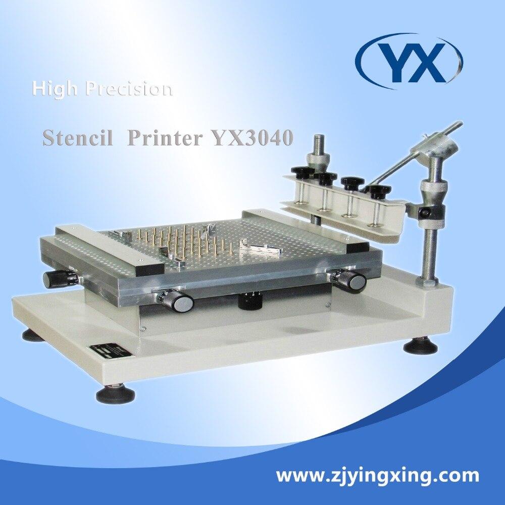 Imprimante manuelle de pochoir d'imprimante de pochoir de sérigraphie de haute précision imprimante de pâte de soudure de smt