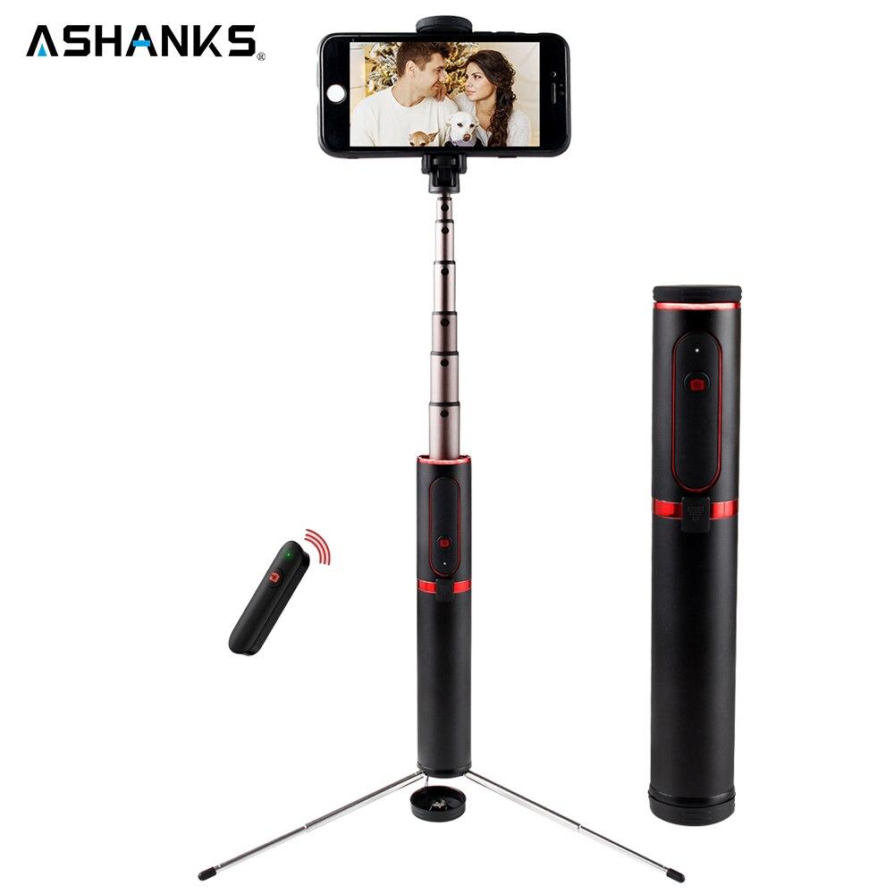 ASHANKS Bluetooth Selfie Stick Mini Stativ 3 in 1 Einbeinstativ Selfie Stick Bluetooth Wireless Remote Shutter für Android & Iphone