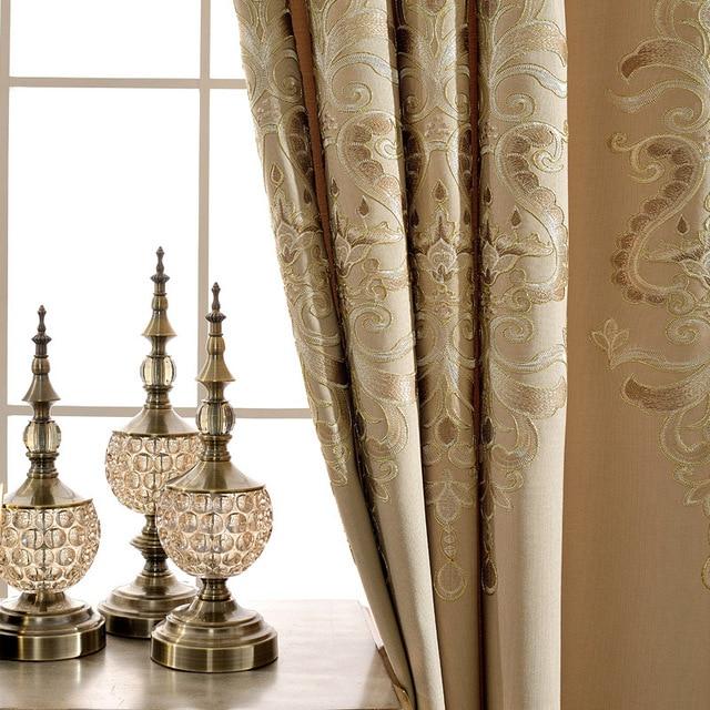 Aliexpress.com : Buy Beige European Chenille Embroidery Curtain ...