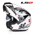 LS2 Full Face Motorbike Motorbike Motorcross Urban racing motorcycle helmet Multi-function fill-up Open face helmet Safe ECE