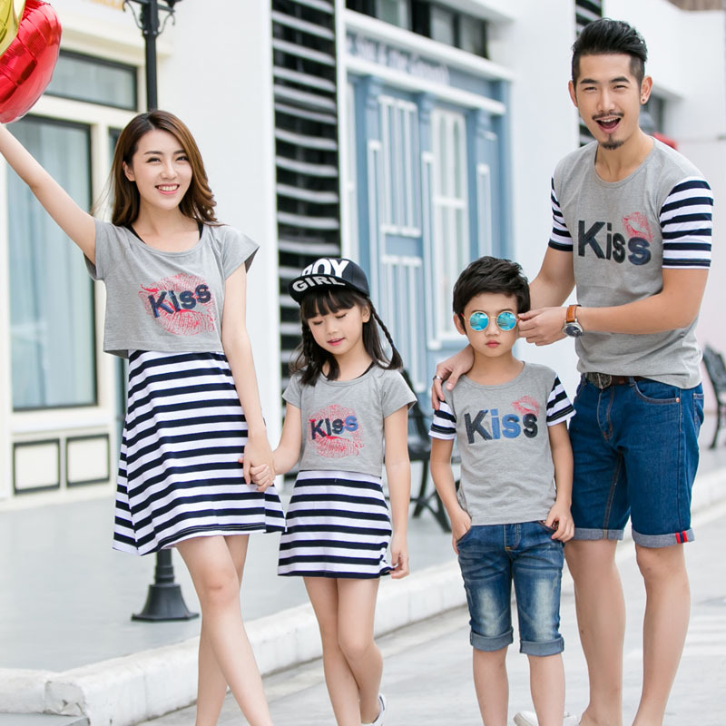 f3342ddc8f4f 2019 summer mom and daughter dress matching mother daughter clothes dresses  outfits father and son clothes t shirts family look-in Matching Family  Outfits ...