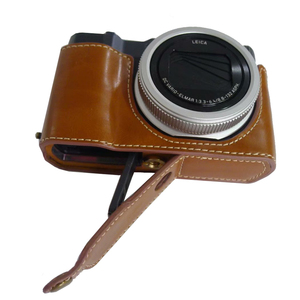 Image 4 - Pu Leather Case Half Body Cover Base For Panasonic TZ200 ZS220 TX2 Camera bag with Bottom Opening Version