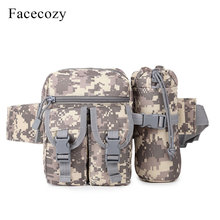 Facecozy Outdoor Sports Camouflage Waist Bag Hunting Camping Pack Military Tactical Multifunctional Sack with Kettle Bags