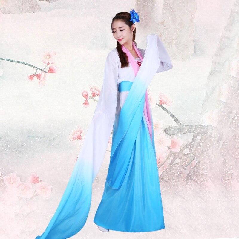 Classical Hanfu Sleeve Dance Costume Female Chinese Style Costume Dance Ji Dance Costume Sleeve Dance