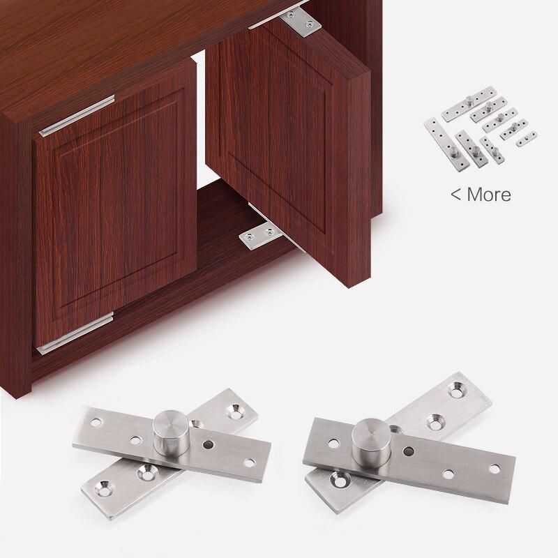 1 Pcs 360 Grad Rotation Achse, Verdickt Edelstahl Up Und Unten Holz Türen Scharniere Lage Welle Möbel Scharnier Versteckte 100% Original