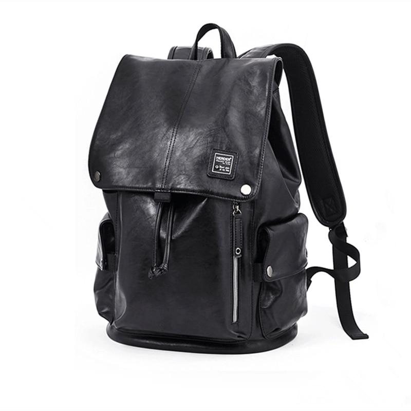 bolsa designer Leather Backpack Men Laptop Backpacks for Women male Business Travel bagpack childen school bag rucksack Mochila