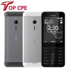 """Nokia 230 разблокированный GSM 2,"""" Dual SIM 2MP 360P одноядерный дешевый мобильный телефон Восстановленный мобильный телефон"""
