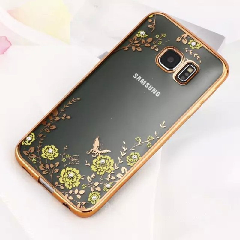 fashion diamond flowers cover case for samsung galaxy s5