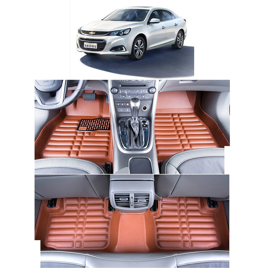 Fast Shipping Leather Car Floor Mat Carpet Rug For
