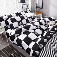 High Quality Black White Plaid Bedding Set Bedding Sets