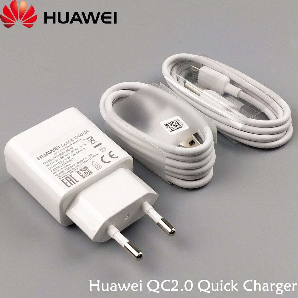 Original Huawei P8 lite Charger P9 Plus P8 Mate8 7 6 5X 4A Honor 6 honor 7 honor 8 Quick Fast QC2.0 9V2A EU Wall Charge Adapter