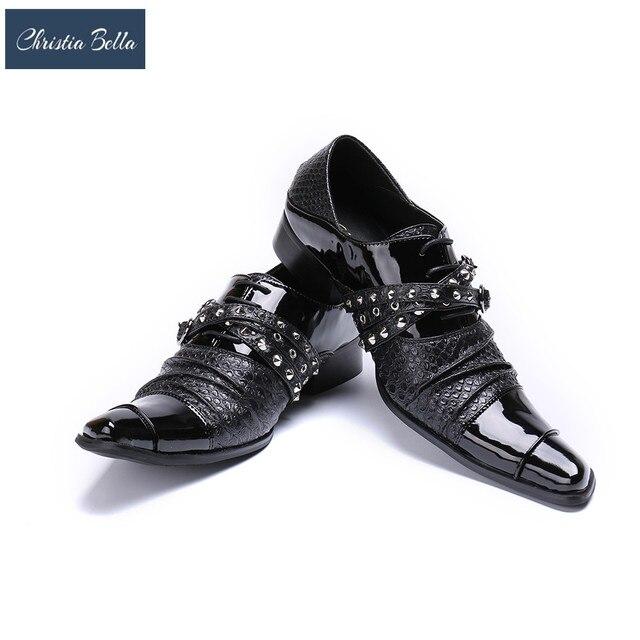 Christia Bella Handmade Buckle Strap Oxfords Monk Shoes Men Formal Business Dress  Shoes Men s Flats Plus Size Leather Men Shoes e7696385646d