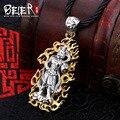 Beier 925 prata esterlina figura colar pingente moda jóias livre dar corda a1591